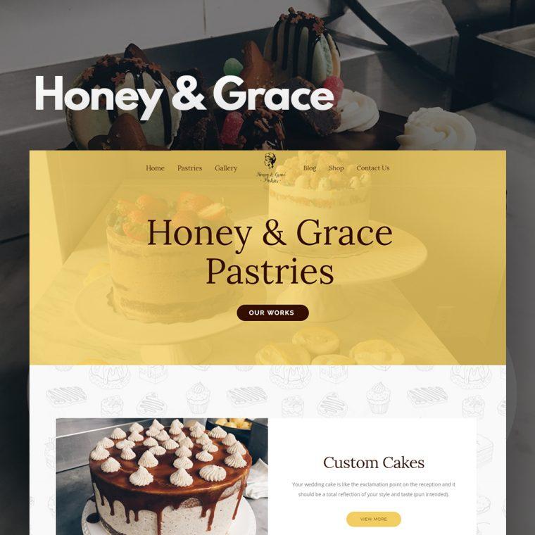 Honey and Grace Canada Website Design